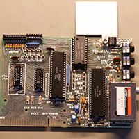 Click to view large image of The completed ZX81 circuit board
