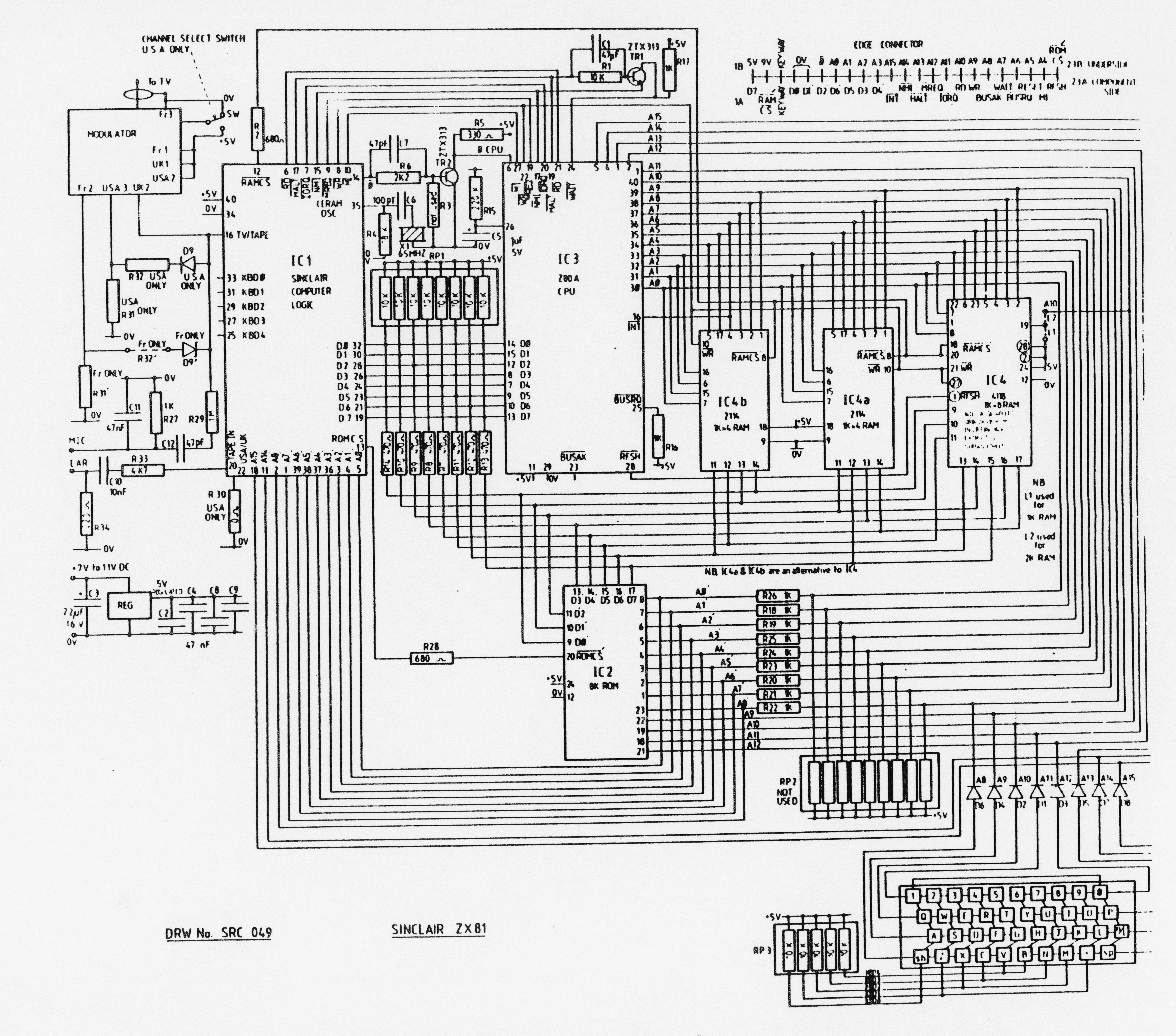 sinclair zx81 kit build zx81 flight simulator schematic (opens in a new window)