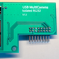 Click to view large image of Back of the assembled PCB