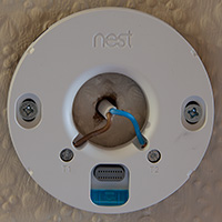 Click to view larger image of Thermostat wall mount fitted