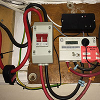 Photo of Installed above the electric meter