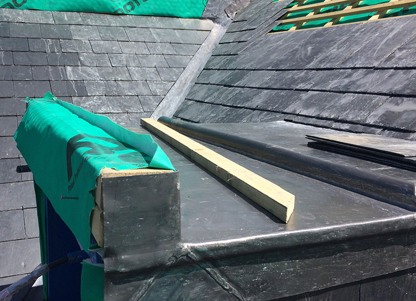 Lead installed on dormer roof