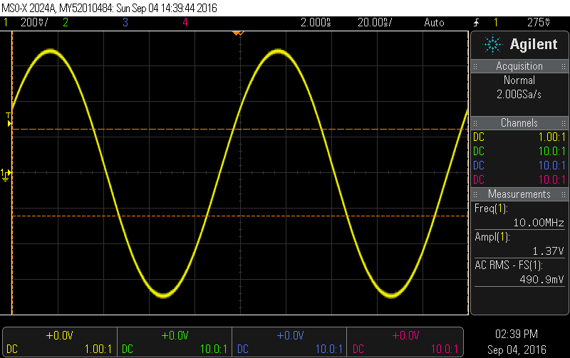 10 Mhz Frequency Standard Sine Wave output
