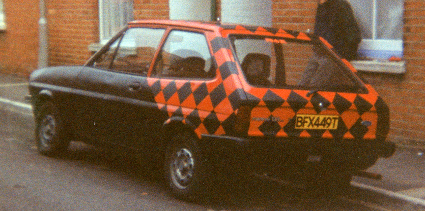 Ford Fiesta Mk1 back view