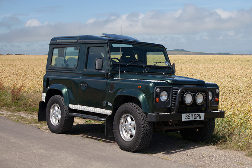 Land Rover Defender when first purchased