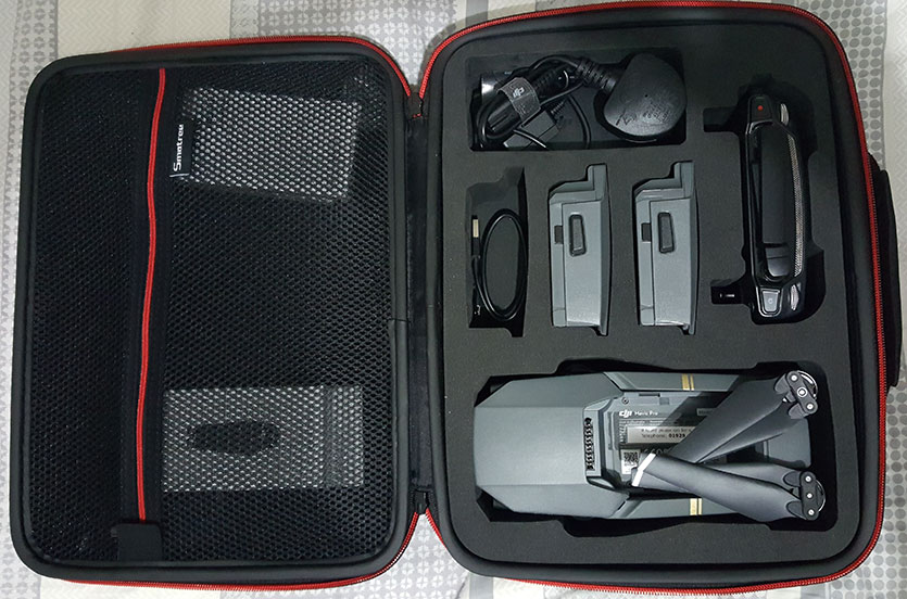 DJI Mavic Pro in the case