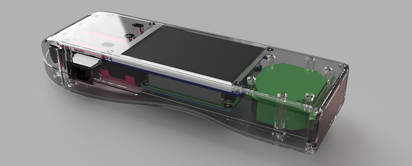 Render of the new case, click to open larger version