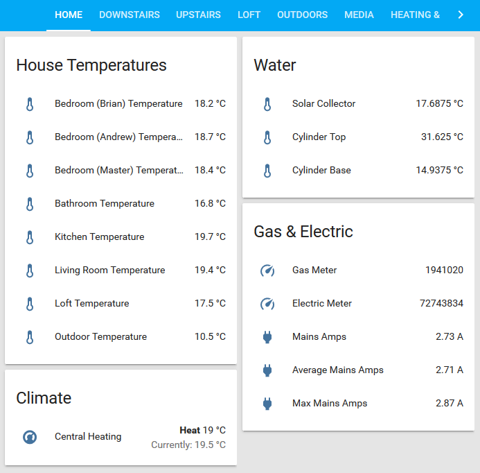 Home Assistant home page