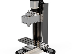 3d milling machine render