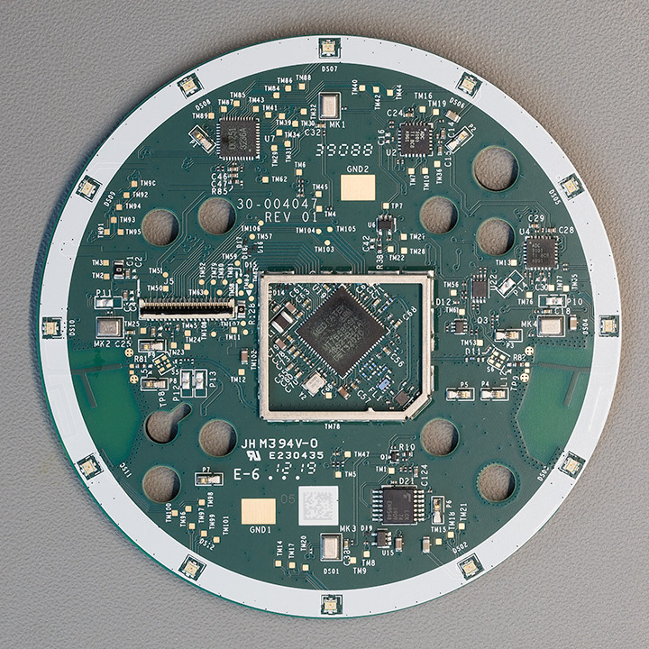 Amazon Echo Dot Rev 3 Top PCB with Shielding removed