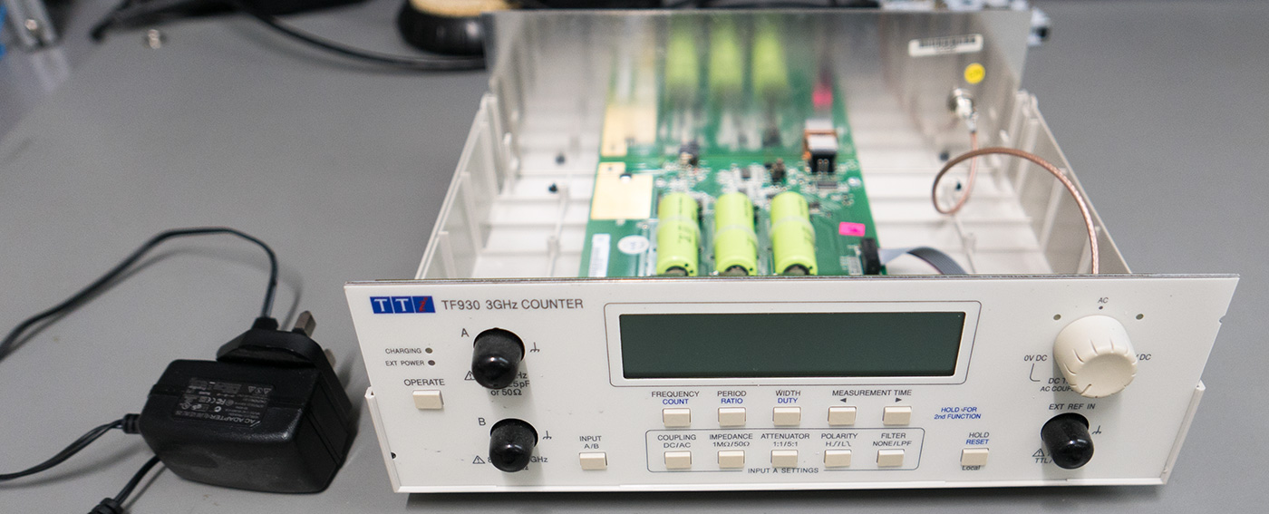 The External Power supply for the frequency counter