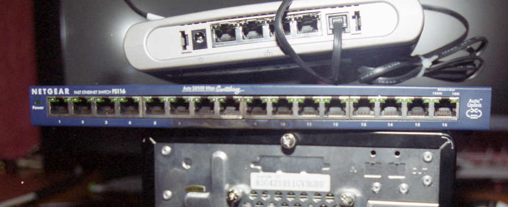 Network switch with burn damage