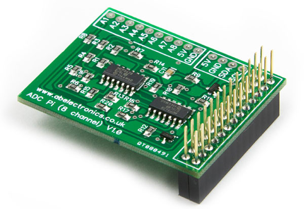 ADC Pi Raspberry Pi I2C Analog to Digital Converter boards available to buy online