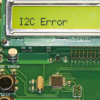 Click to view large image of I2C error when no board detected