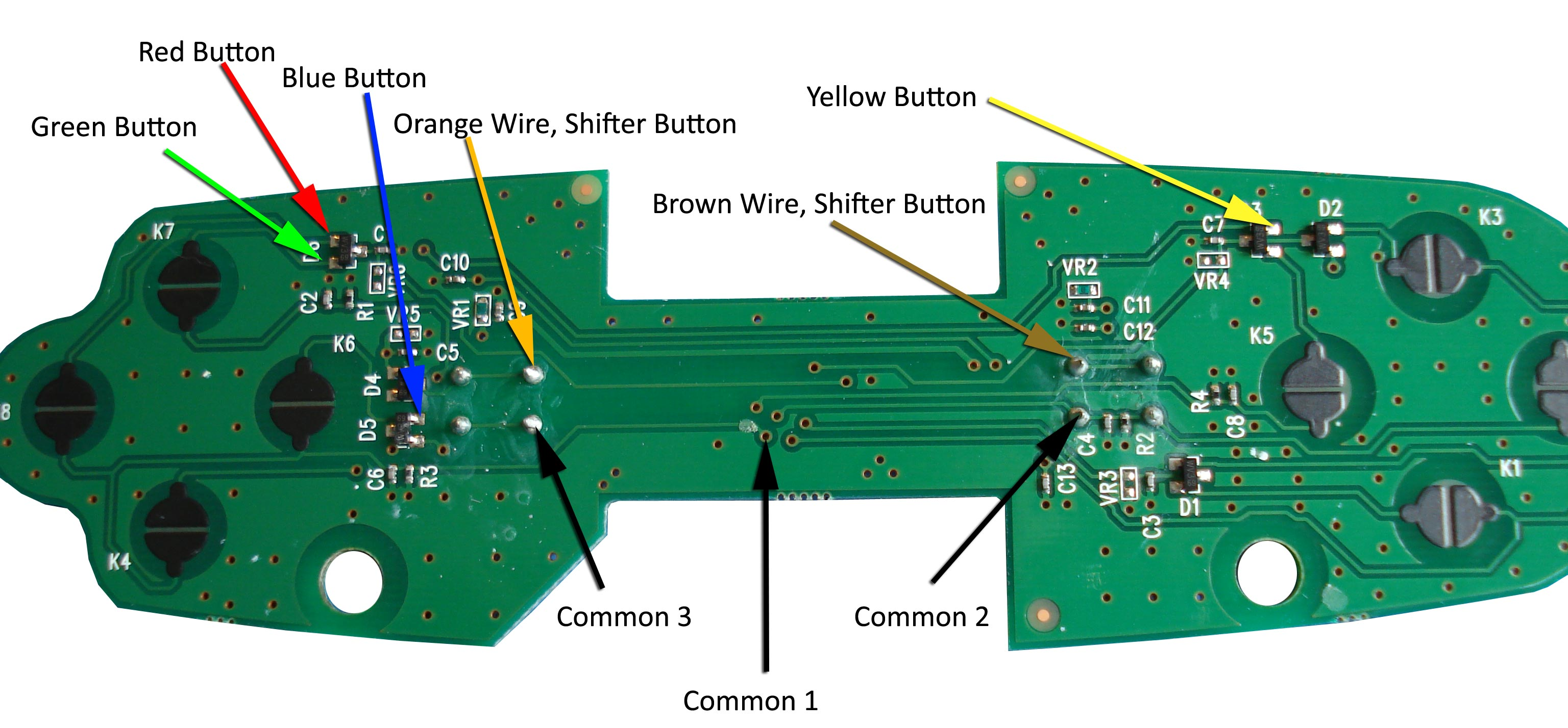 External Button Connections Circuit Board And Wiring With Instructions
