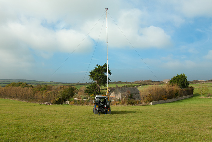 Using our high level photography mast