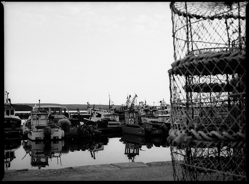 fishing boats and pots