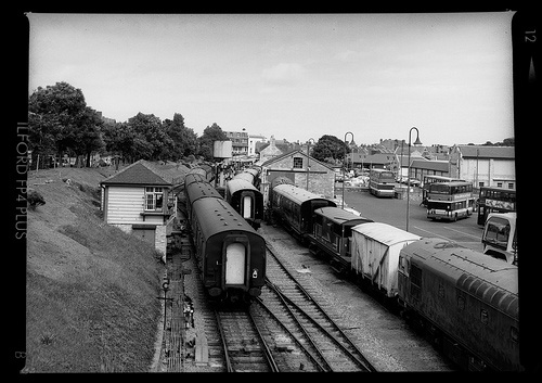 railway platform on swanage railway