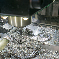 Click to view larger image of Milling the 10mm material
