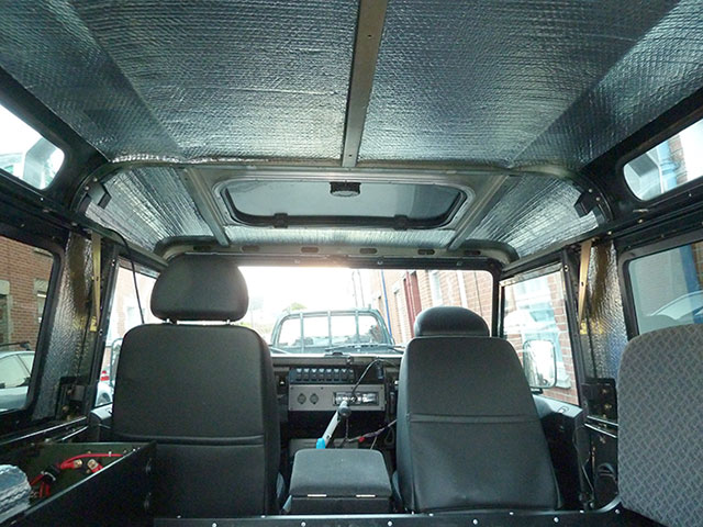 Land Rover Defender Roof Insulation Upgrade