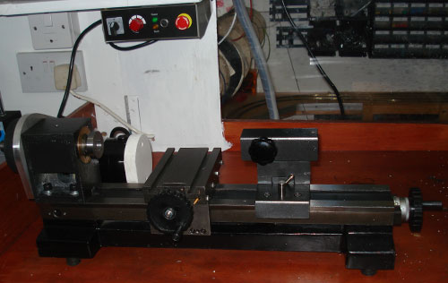 lathe partially reassembled