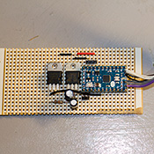 Click to view larger image of Stripboard circuit