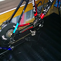 Bike fitted to the Wahoo KICKR Power Trainer
