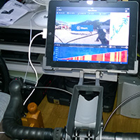 iPad holder on the bike