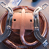 Click to view large image of CPU Heatsink base