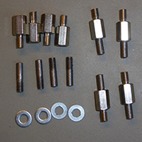 PCB caddy pins and spacers