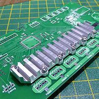 Checking the heatsink fit on a spare PCB