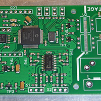 Click to view large image of SMD parts soldered