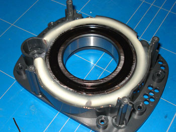 Xbox 360 Steering Wheel bearing fitted