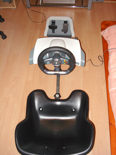 Xbox 360 Steering Wheel and pedals fitted