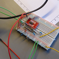 Click to view large image of Op Amp on breadboard